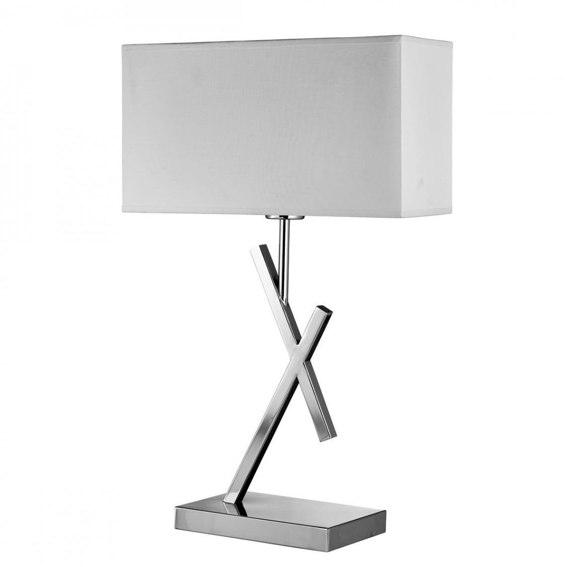 Acute chrome table lamp with white rectangle shade modish furnishing acute chrome table lamp with white rectangle shade aloadofball Images