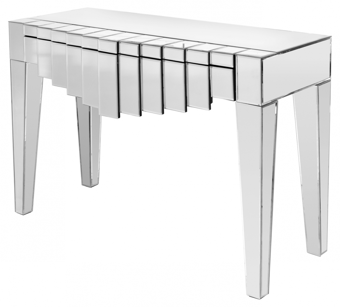 Brooklyn mirrored single drawer console table modish furnishing brooklyn mirrored single drawer console table geotapseo Choice Image