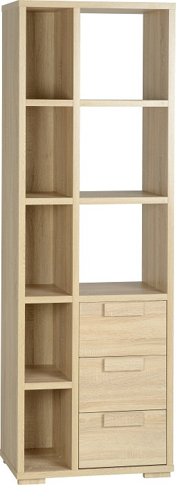 Cambourne 3 Drawer Display Unit in Sonoma Oak Effect Veneer