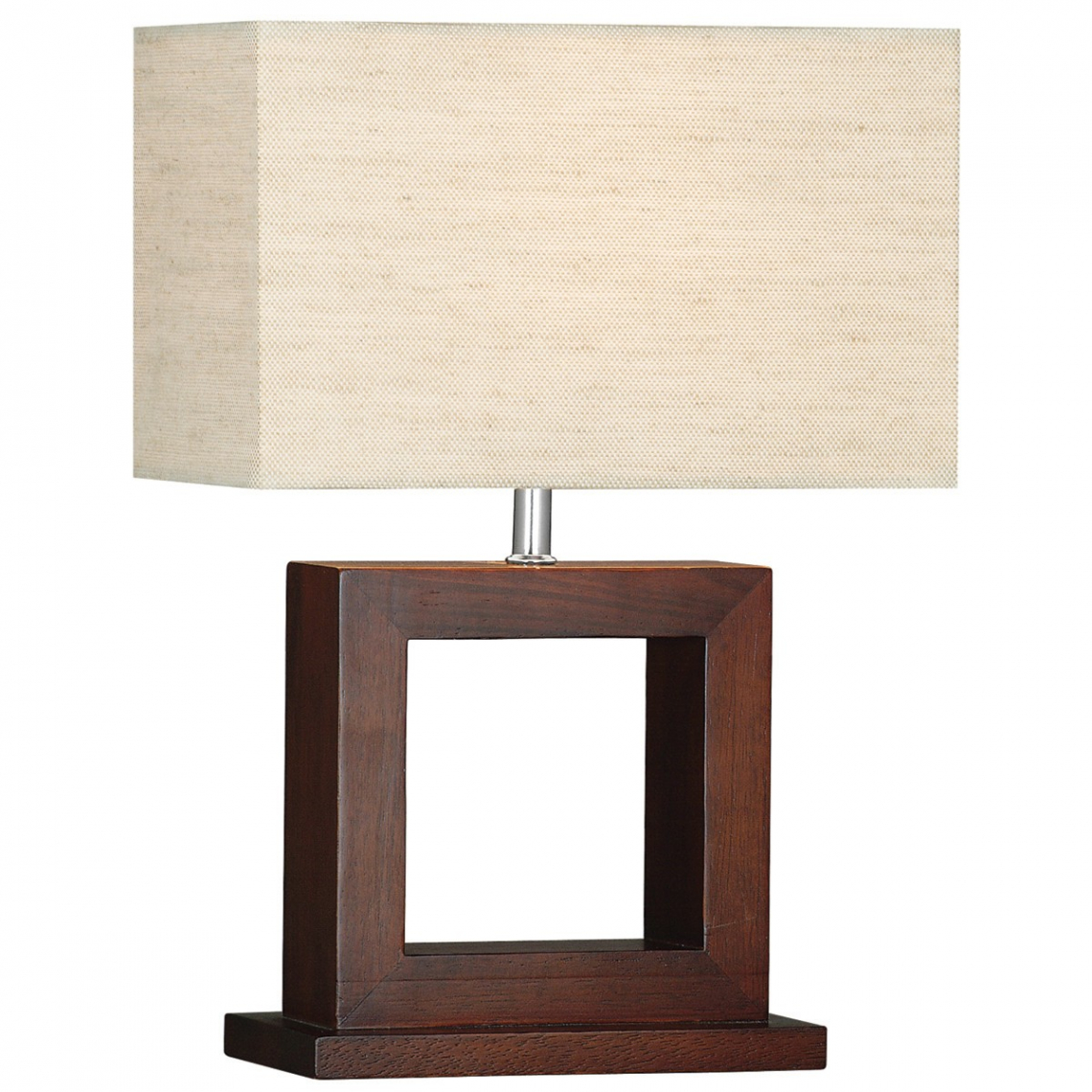 Cosmopolitan Dark Wood Table Lamp With Matching Oblong