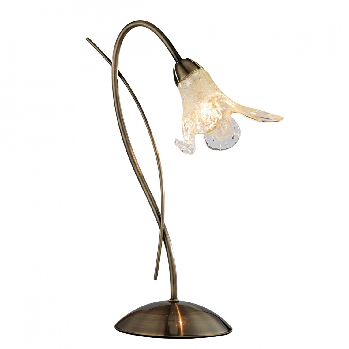 lily antique brass table lamp with amber