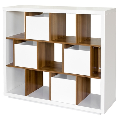 Sapporo High Gloss Shelving Unit