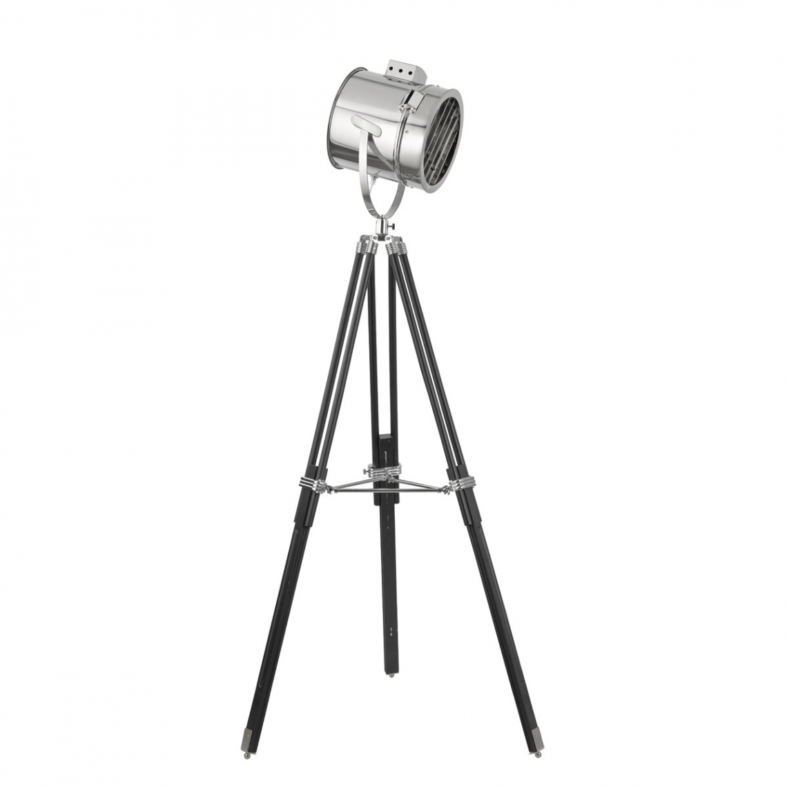 Stage light chrome floor lamp with stylish shade modish for Pallas chrome floor lamp