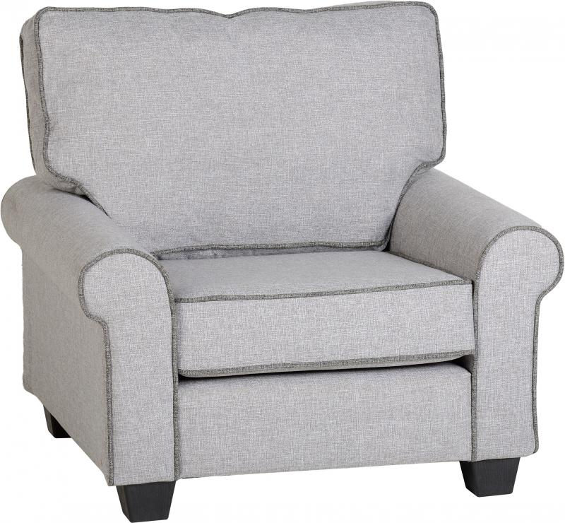 Fabulous Bailey Fabric Sofa In Light Grey Dark Grey Piping Armchair Pdpeps Interior Chair Design Pdpepsorg