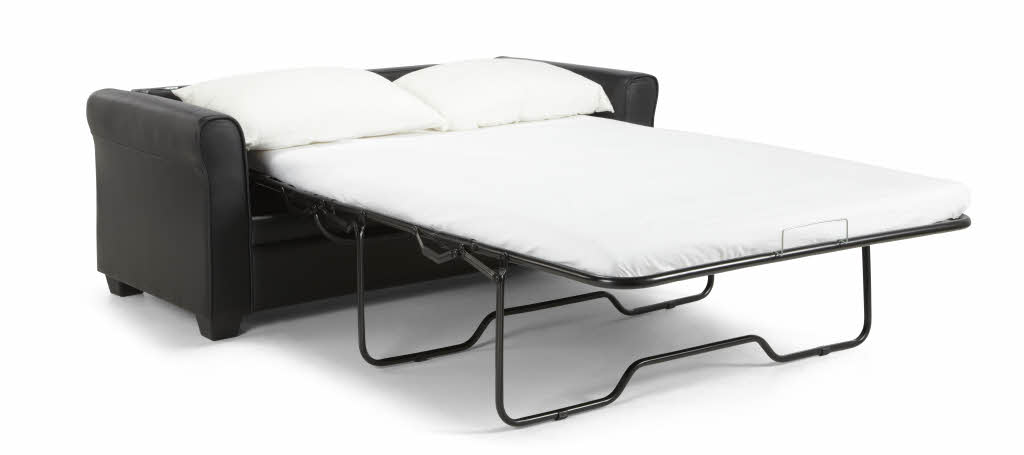 Terrific Naples Faux Leather Sofa Bed Black Caraccident5 Cool Chair Designs And Ideas Caraccident5Info