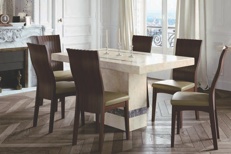 Vittoria 6 Chair Dining Set With 5ft Table Modish Furnishing