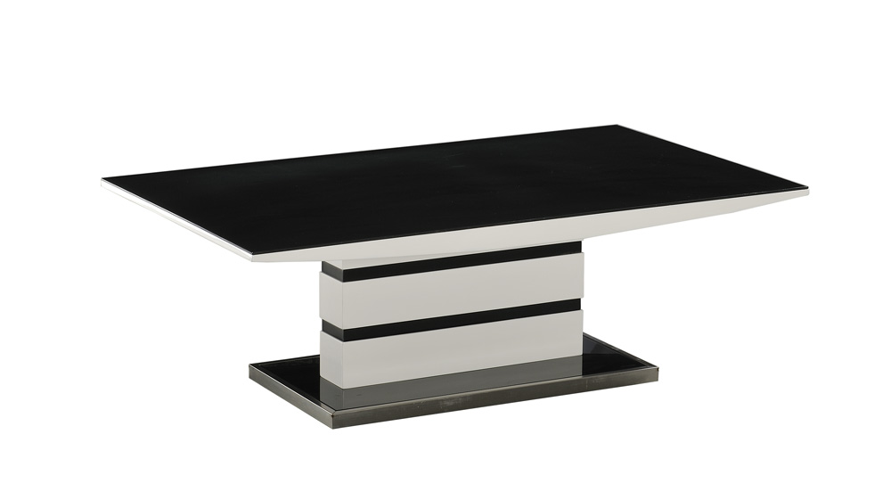 Argento coffee table black and white modish furnishing Black and white coffee table