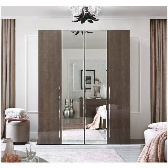 Camel Group Platinum Silver Birch mirrored wardrobe