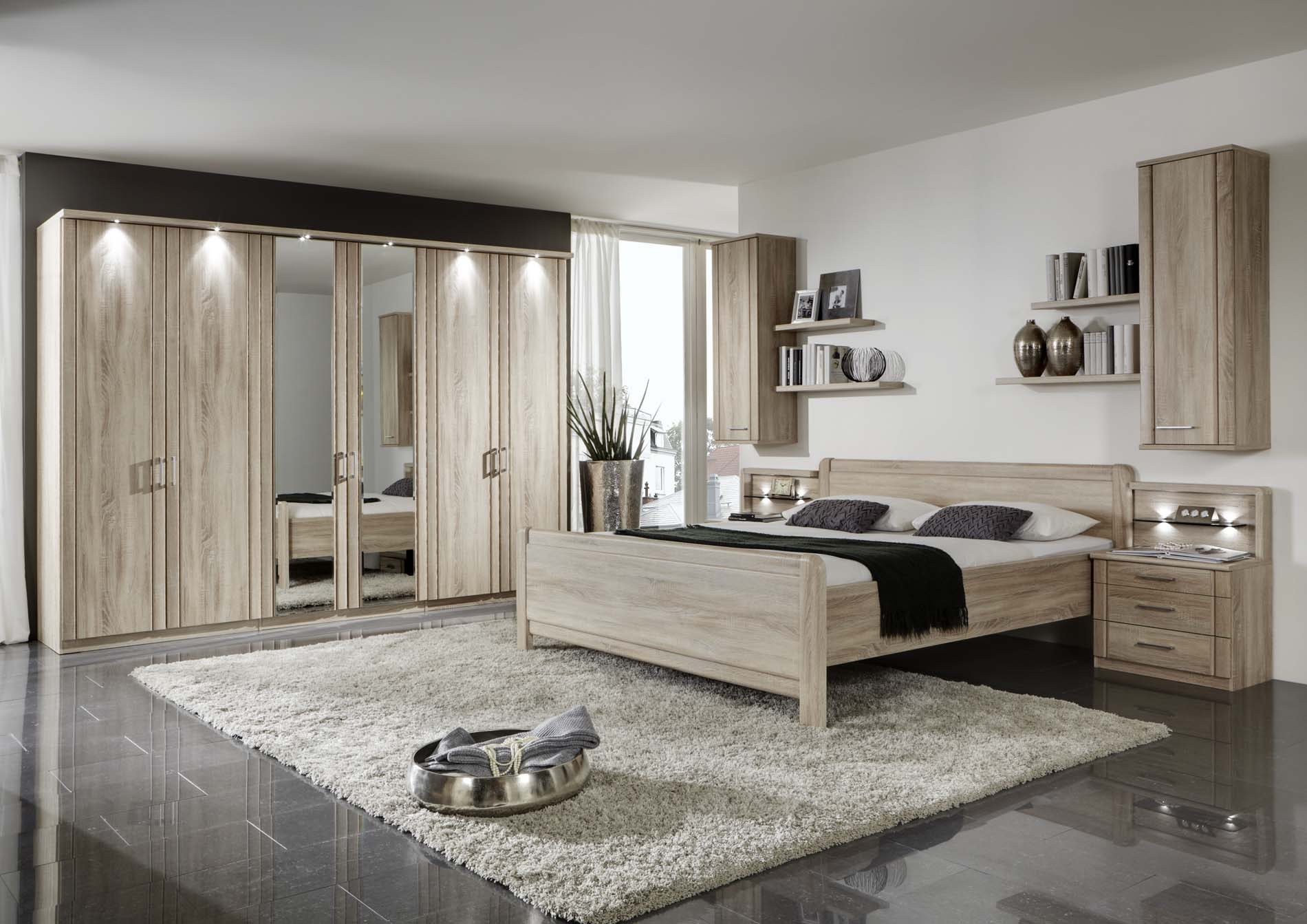 Wiemann Valencia Bedroom Set In Rustic Oak Modish Furnishing