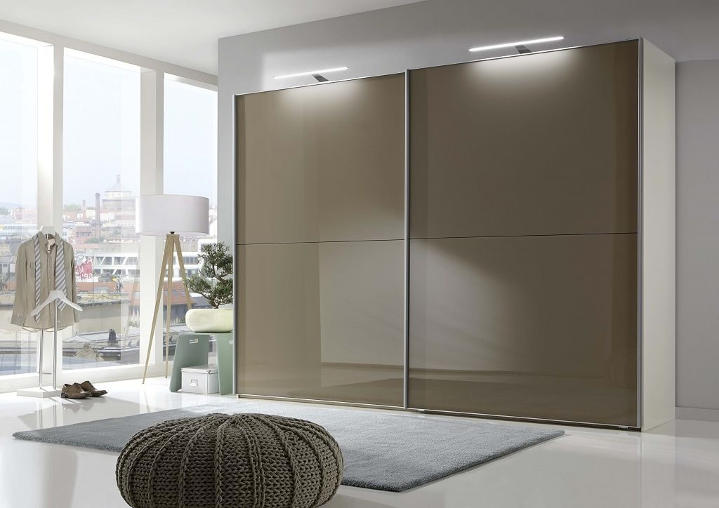 Wiemann Berlin Wardrobe with sahara Glass, Sliding Doors and strip lights