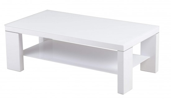 Lucca White High Gloss Coffee Table Modish Furnishing
