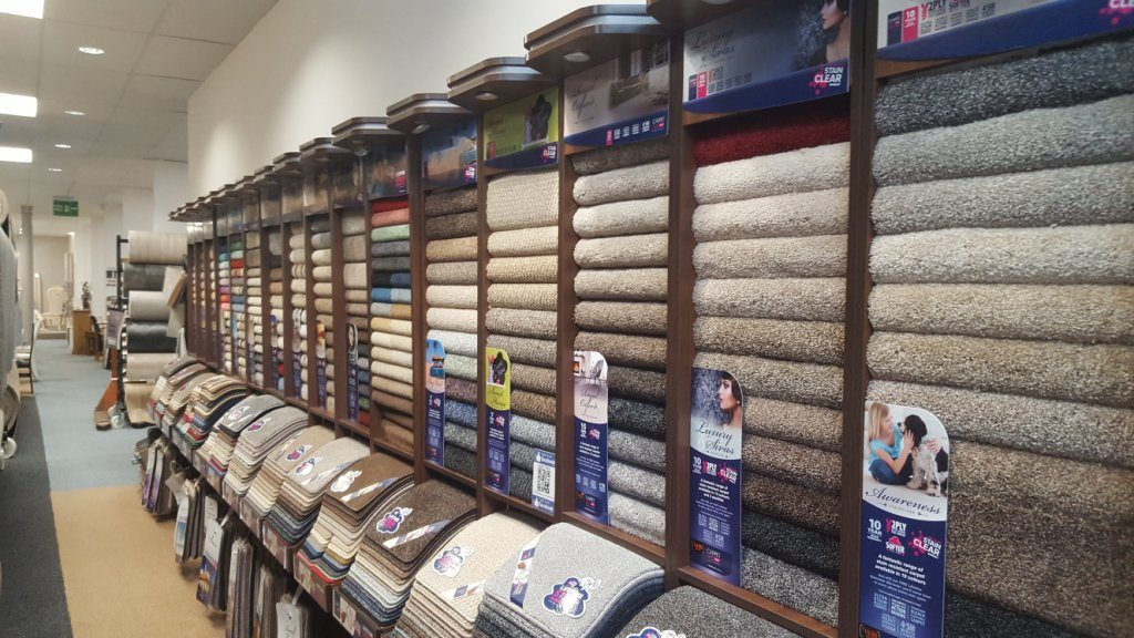 Glasgow carpet showroom