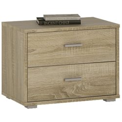wooden bedside table 2 drawers