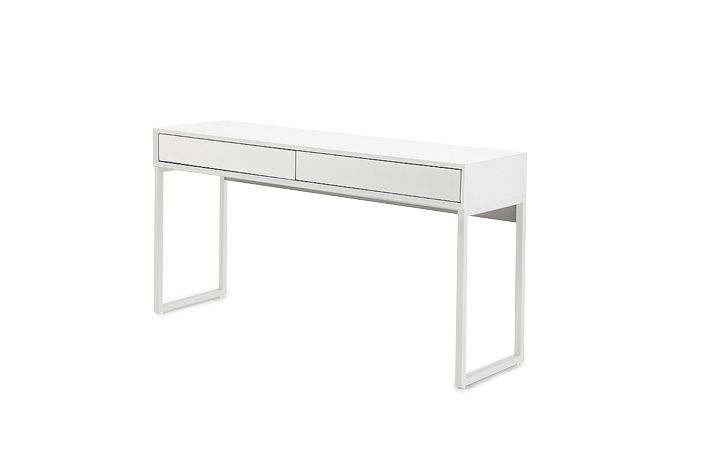 Wondrous Cassi White High Gloss Console Dresser Table With Drawer Gmtry Best Dining Table And Chair Ideas Images Gmtryco