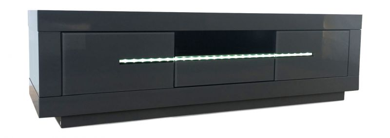 Monte Carlo Grey High Gloss Tv Unit With Led Light