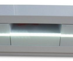 white gloss tv unit led light