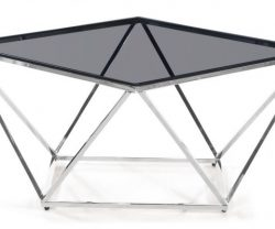 black glass top coffee table