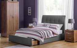 santorini grey fabric storage bed