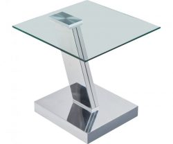 sparta clear glass side table