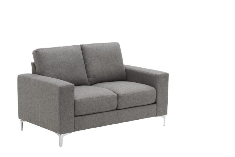 Grey Fabric Small Two Seater Sofa
