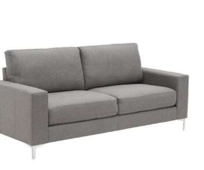 grey two seater sofa