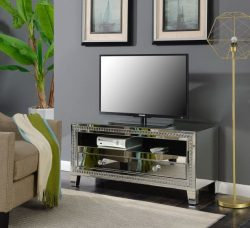 mirrored TV unit