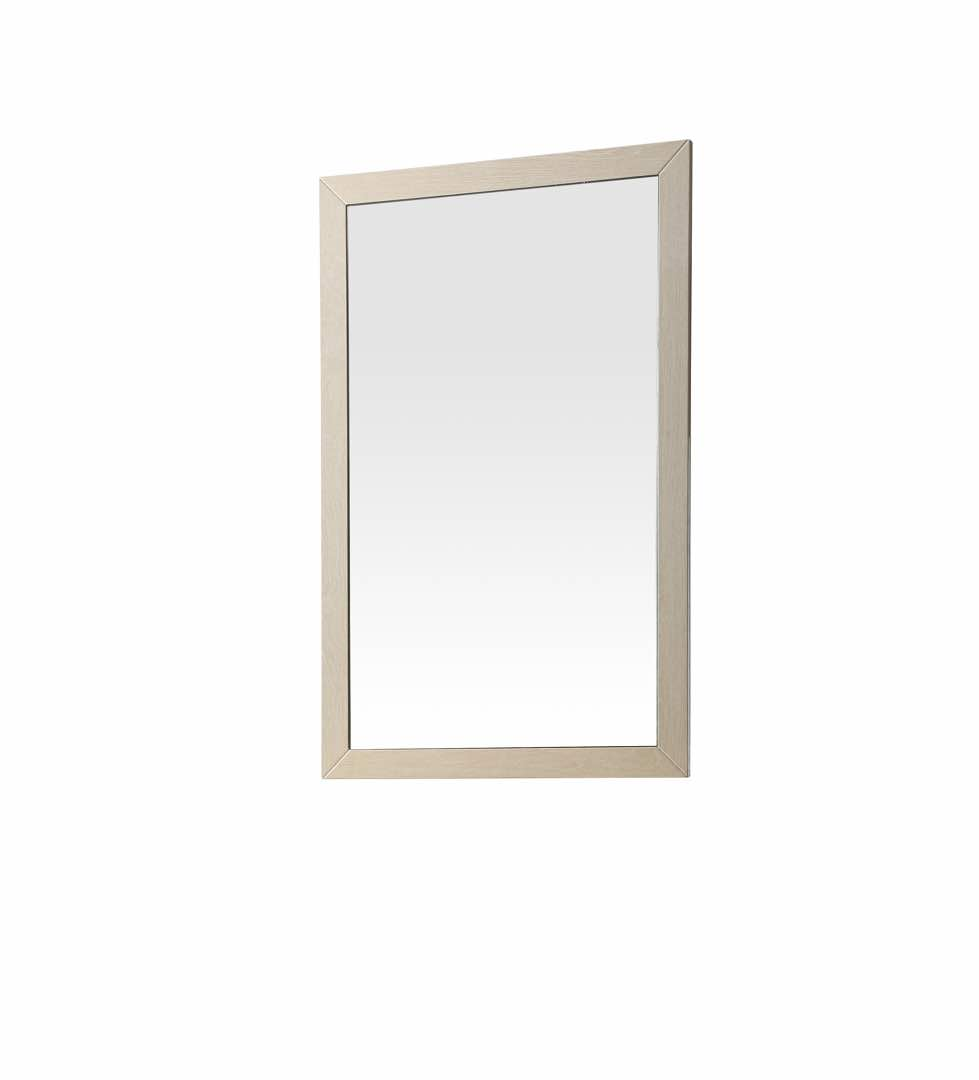 Cream walnut mirror