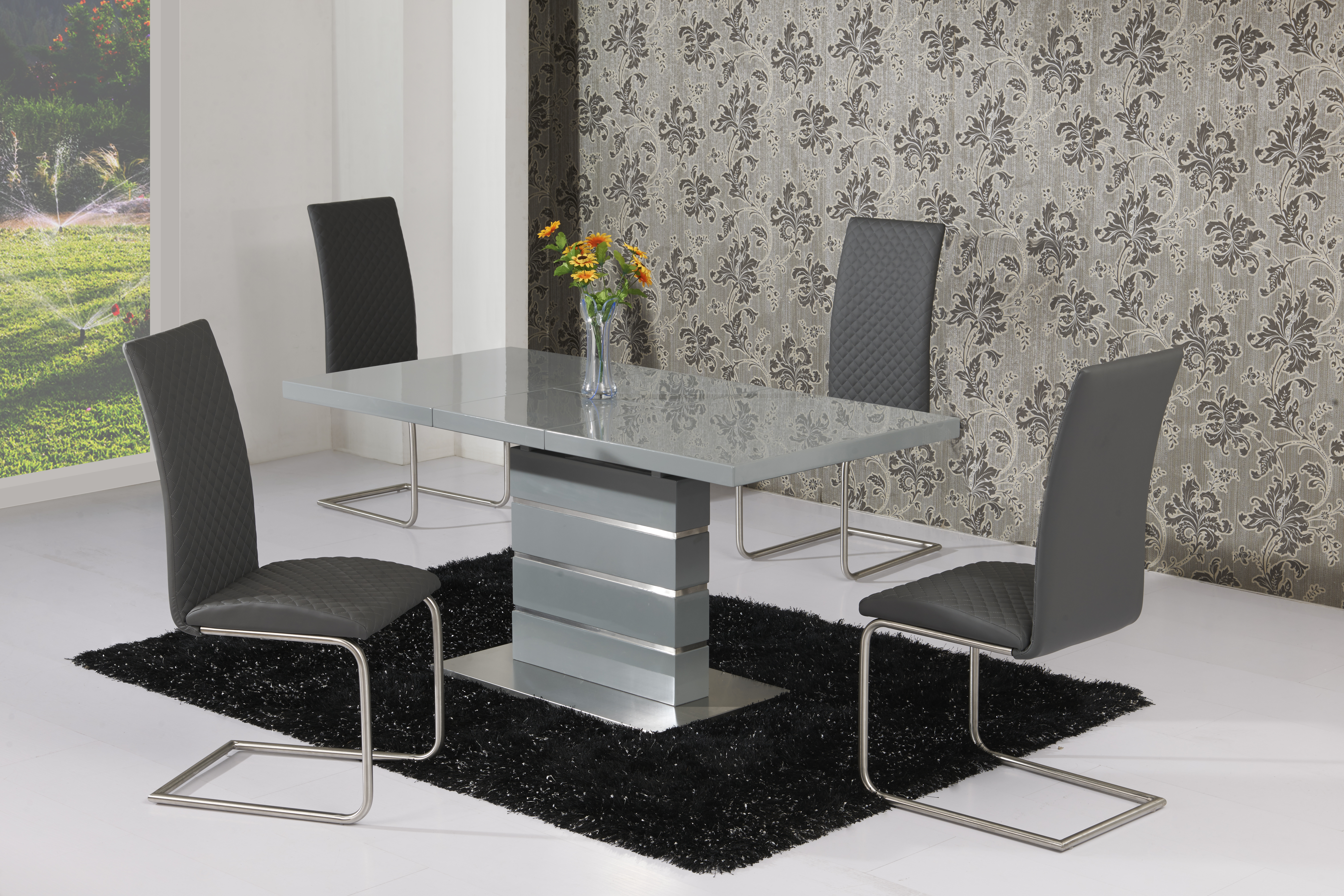 Maysan Grey EXT Table DTX-5501 & Mulliner Grey Chair CH-5024
