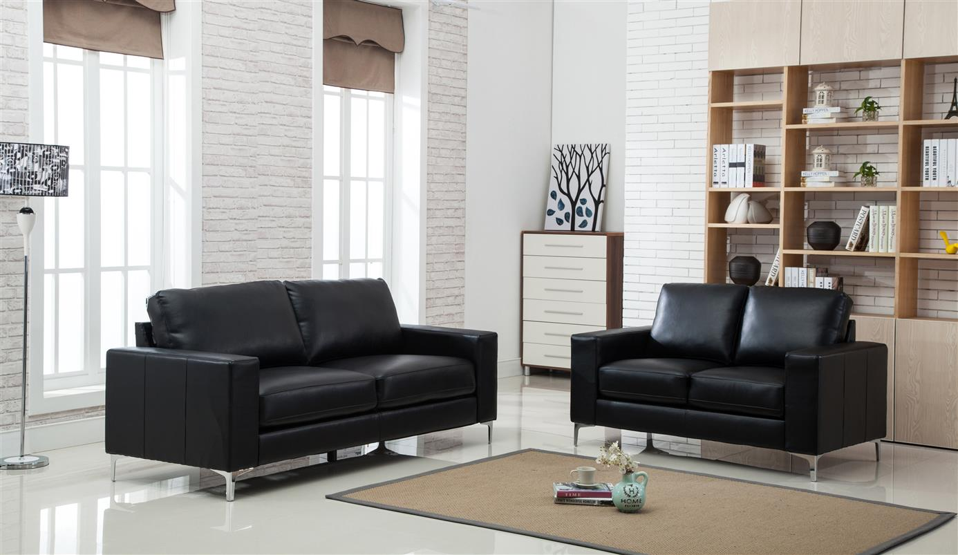 Stupendous Treviso Black Leather Sofa Download Free Architecture Designs Scobabritishbridgeorg
