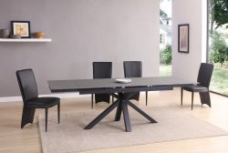 matte black extending dining table