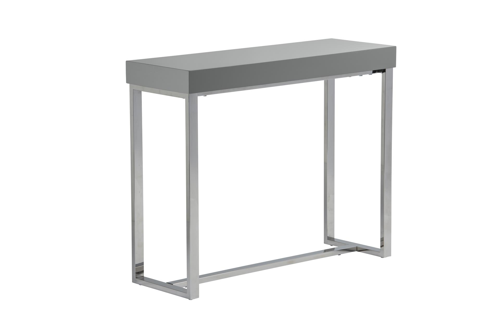 Remarkable Franklyn Console Table In Grey High Gloss Machost Co Dining Chair Design Ideas Machostcouk