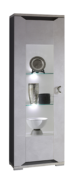 Mistral High Gloss 1 Door Glass Display Cabinet with LED  sc 1 st  Modish Furnishing & Mistral High Gloss 1 Door Glass Display Cabinet with LED - Modish ...