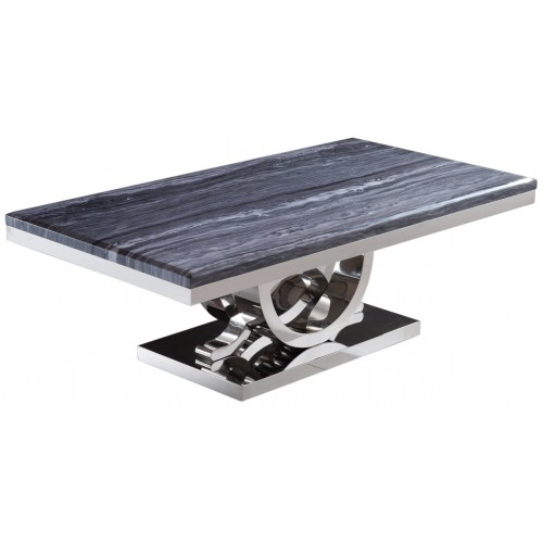 Marble Effect Coffee Table Uk: Jupiter Grey Marble Top Console Table With Curved Chrome Base