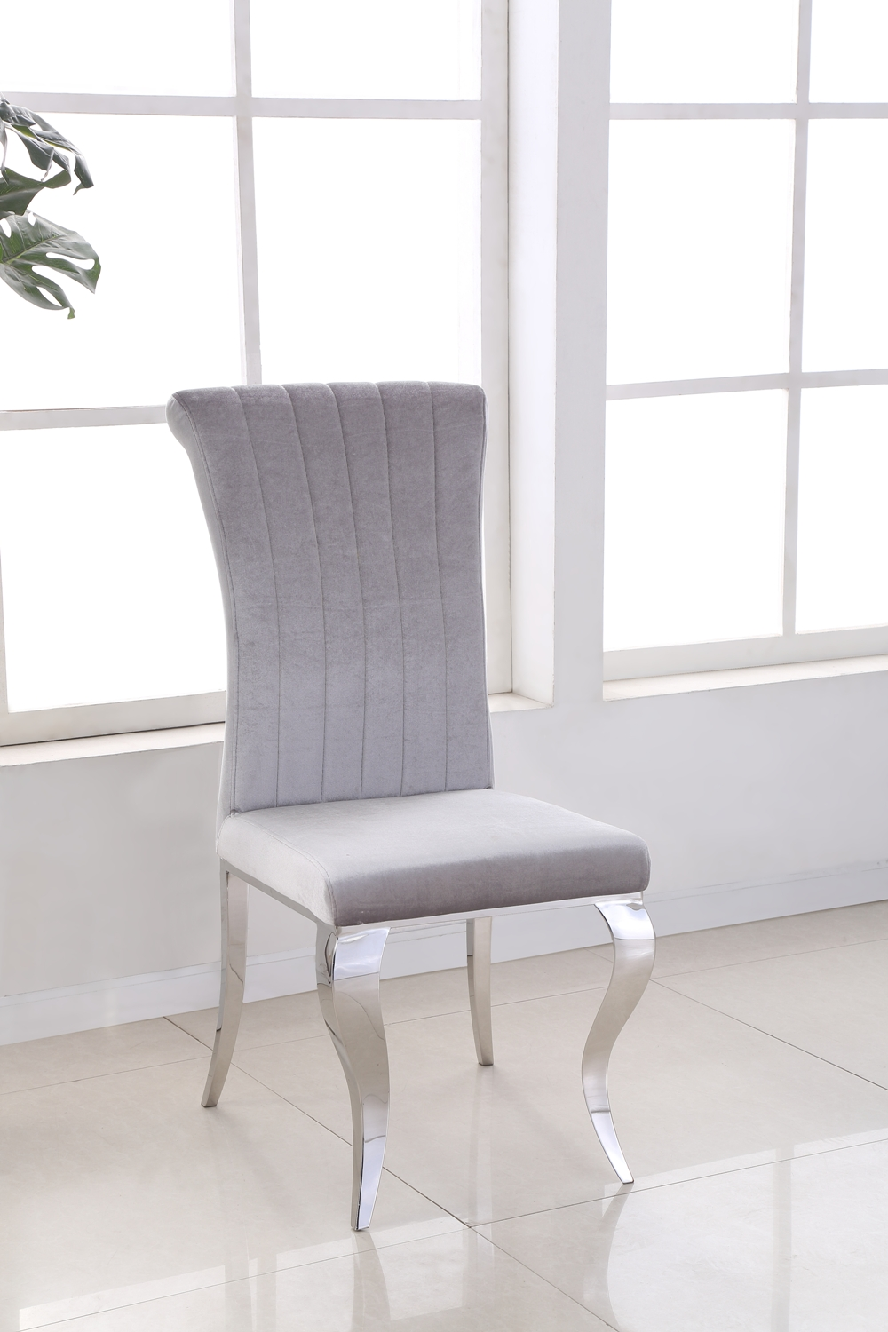 Liyana Grey Chair CH-891GR (front)