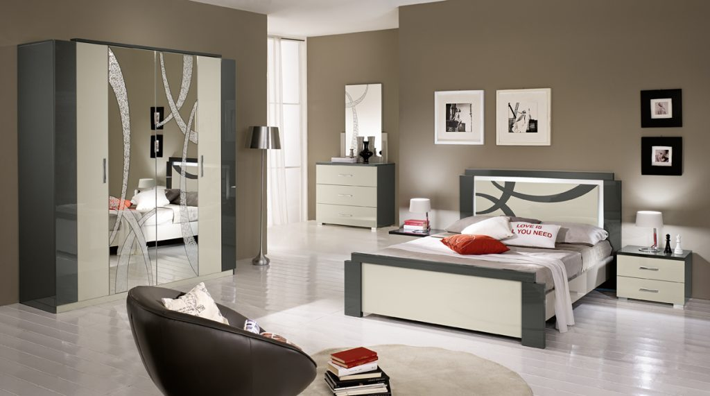 Grey and Cream Bedroom Furniture by San Martino