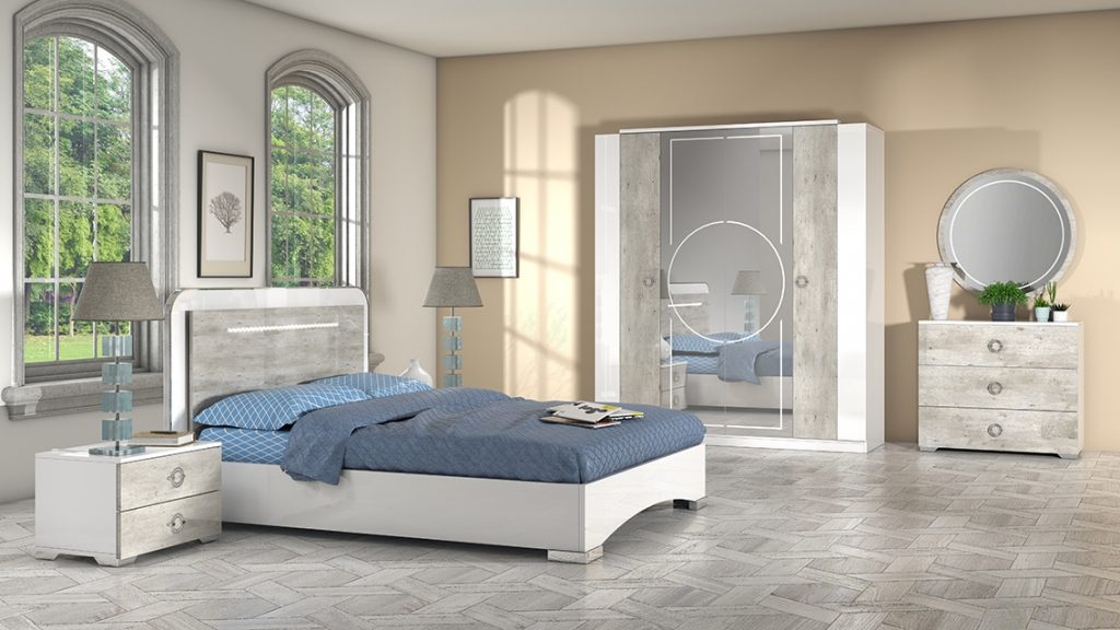 white and wood effect bedroom range bedroom furniture san martino italian furniture