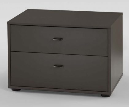 Wiemann Tokio Bedside Table 2 Drawers Havana Carcass