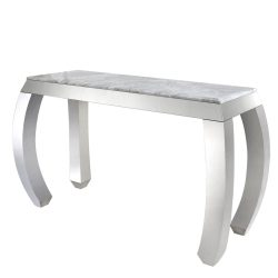 marble top console table curved leg