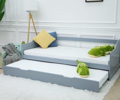 guest pull out bed grey
