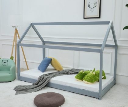 grey house bed