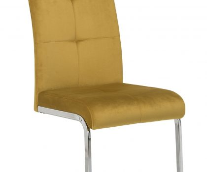 mustard dining chair