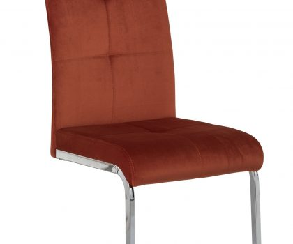 Orange dining chair velvet