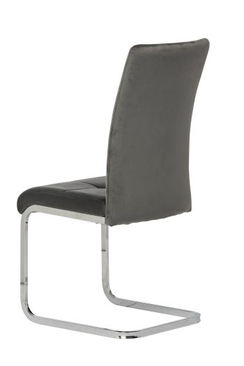 Florence grey velvet dining chair
