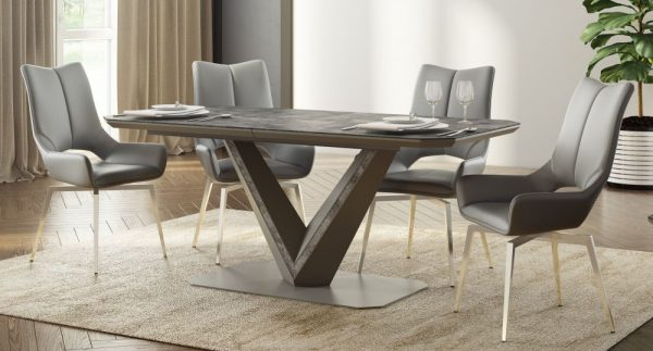 bellagio grey extending dining table