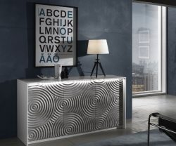 Derrys Furniture three door sideboard with stone effect