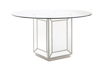 Sofia mirrored glass round dining table