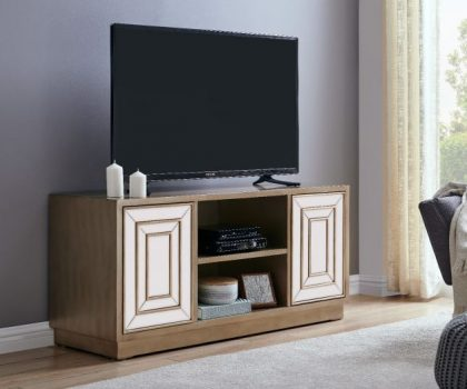 derrys furniture gold and white lisbon tv unit