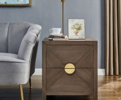 Derrys Wooden Valencia side Table with Two Drawers