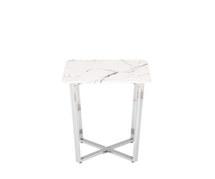 marble effect lamp table by derrys