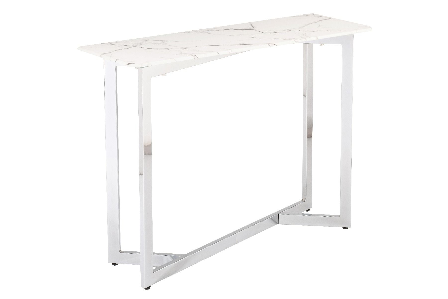 derrys marble effect console table with metal frame
